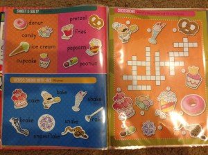 Such cute stickers!  Now all I need is a dry eraser marker to complete the crossword puzzle...