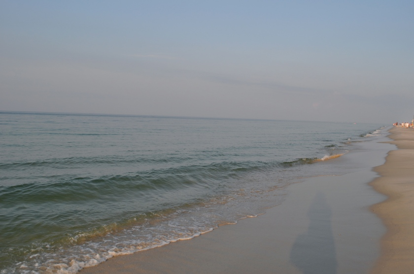 Morning quiet: no sound but the waves